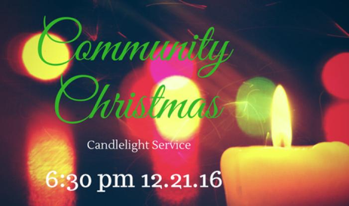 Community Candlelight Christmas Service - Dec 21 2016 6:30 PM
